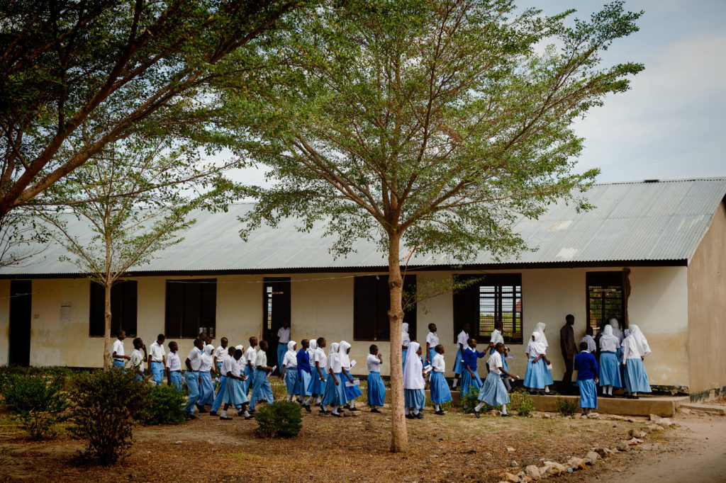 Secondary students in rural school. Camfed/ Eliza Powell