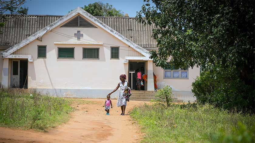 A rural clinic in Mozambique.