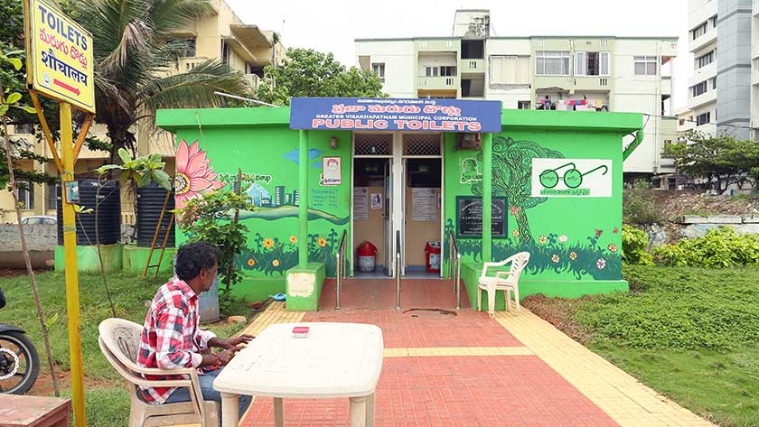 Public toilet in Visakhapatnam