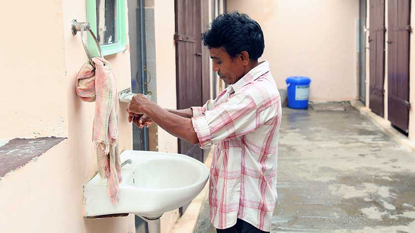 Clean facilities in one of the city's public toilets
