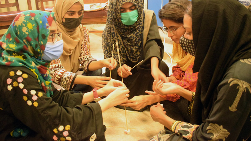 The Accountability Lab Pakistan team is working with students at the University of Karachi on creative methods for conflict resolution in their communities.